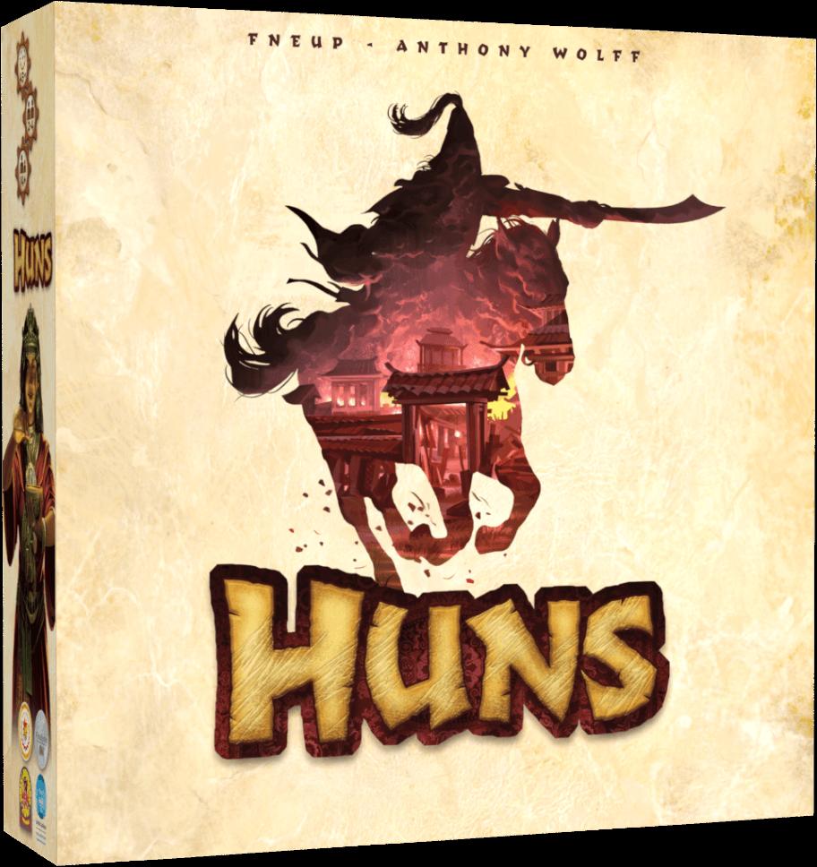 Gra planszowa Hunowie - pudełko